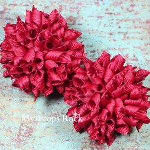 Red Boutique Korker Hair Bow Set Petite